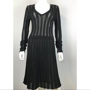 Marc by Marc Jacobs Black Long Crochet Dress XS